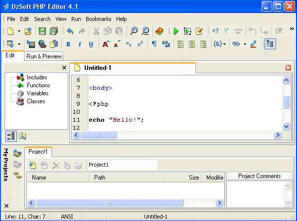 DzSoft PHP Editor v4.1.0.9