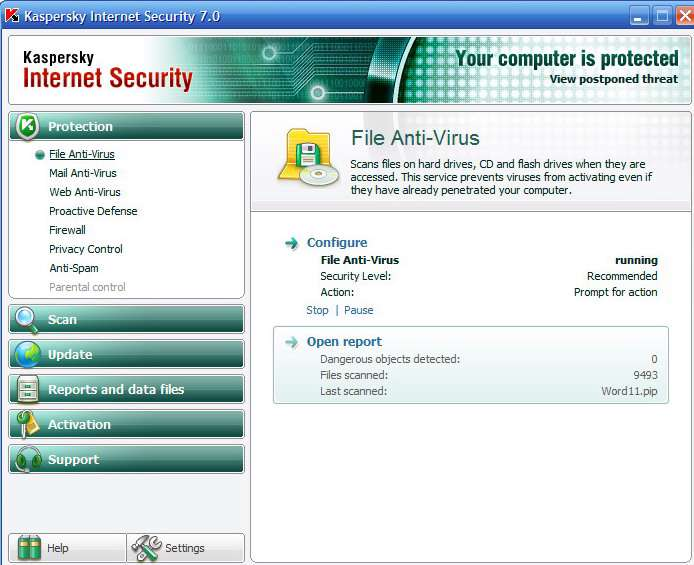 Kaspersky Internet Security 2007 7.0.0.120
