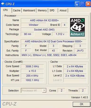 CPU-Z v1.40.5