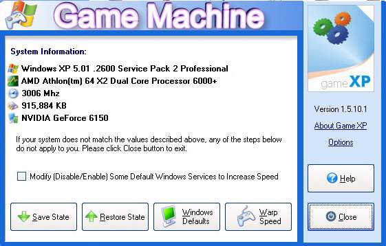 Game XP 1.5.10.1