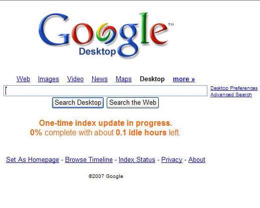 Google Desktop 5.1.0707.23222
