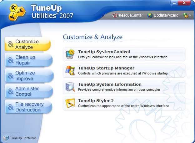 TuneUp Utilities 2007 6.0.2311.0