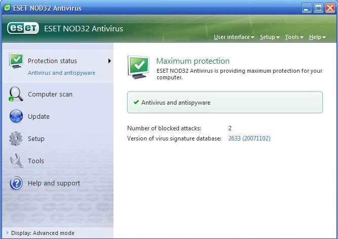 NOD32 Antivirus 3.0.650.0