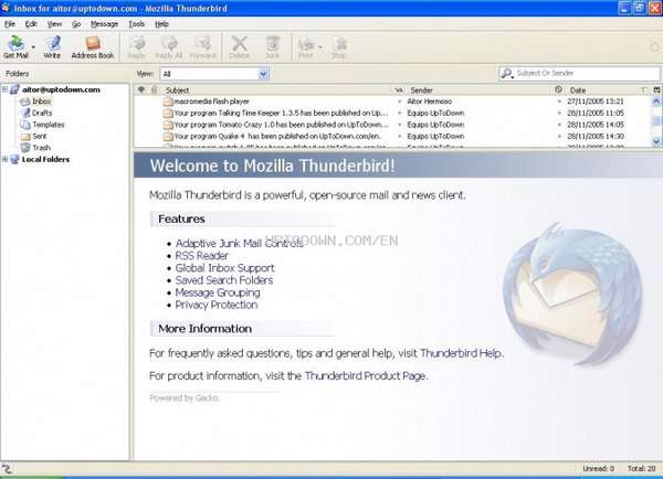 Mozilla Thunderbird 2.0.0.9