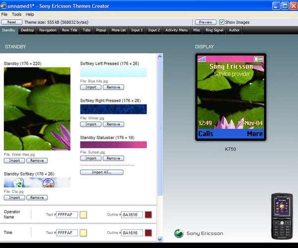 Sony Ericsson Themes Creator 3.19
