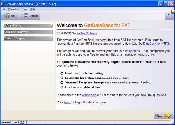 GetDataBack for FAT v3.32