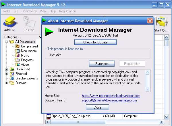 Internet Download Manager 5.12