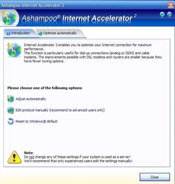 Ashampoo Internet Accelerator 2.00