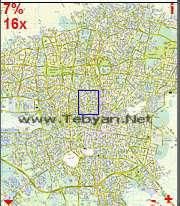 نقشه تهران 86 برای موبایل