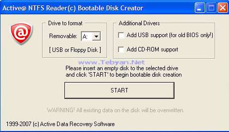 Active NTFS Reader for DOS v1.0