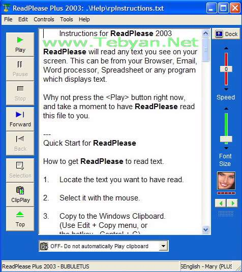 ReadPlease Plus 2003