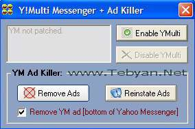 Y!Multi Messenger + Ad Killer 8.x and 9.x