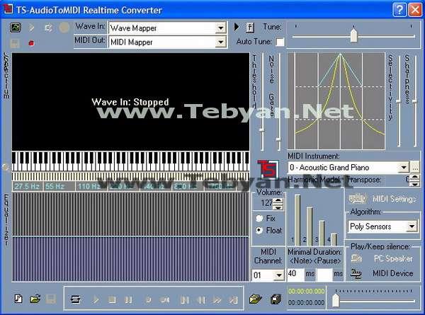 TS-AudioToMIDI Converter v3.30