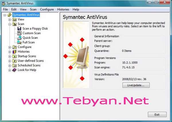 Symantec AntiVirus Corporate Edition 10.2.1000.1 for Vista