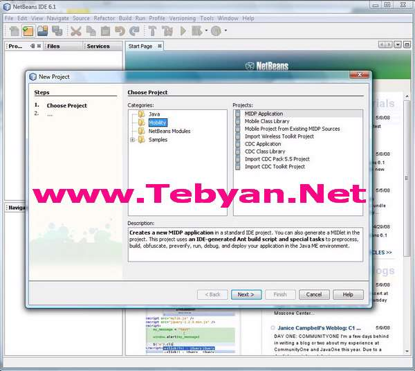 NetBeans IDE and Mobility Pack 6.1