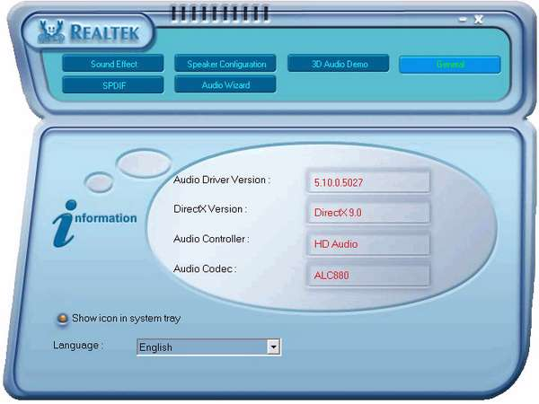 Realtek High Definition Audio Driver R1.91 for Vista