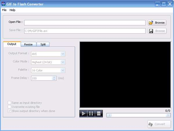 Program4Pc Gif To Flash Converter v2.1