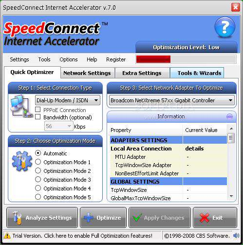 SpeedConnect Internet Accelerator v7.5