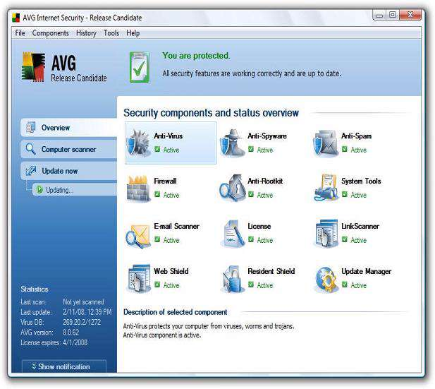 AVG INTERNET SECURITY 8
