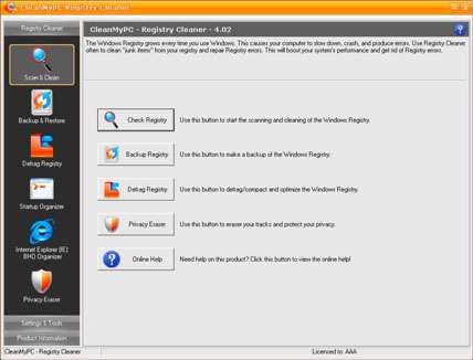 CleanMyPC Registry Cleaner v4.11