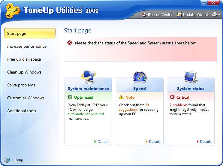 TuneUp Utilities2009-8,0,1100