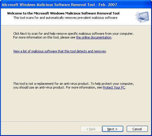 Microsoft Malicious Software Removal Tool 2.4