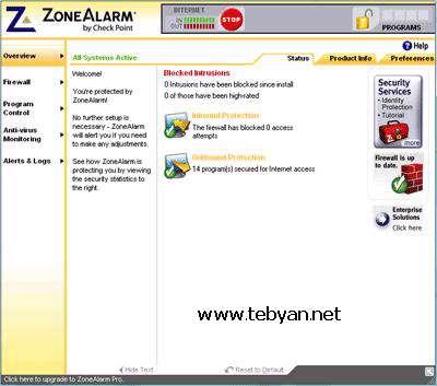 ZoneAlarm Free 8.0.065.0