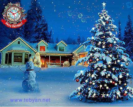 3D White Christmas Screensaver