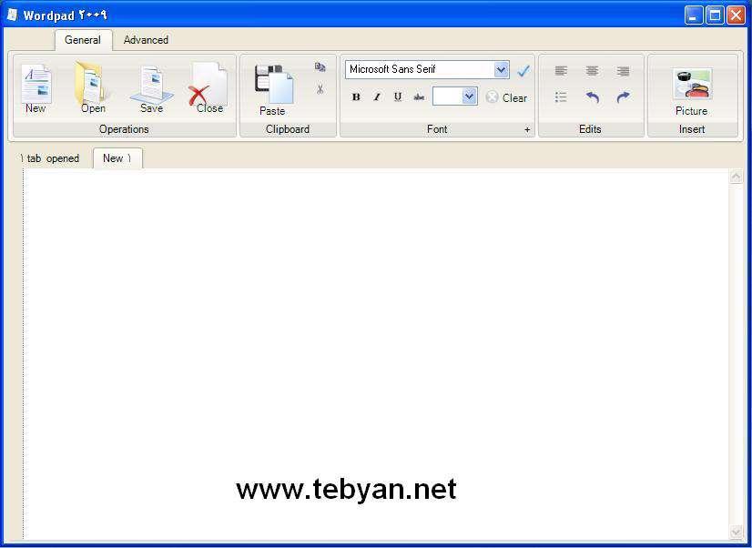 Wordpad 2009