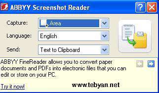 ABBYY Screenshot Reader 9.0.0.1051
