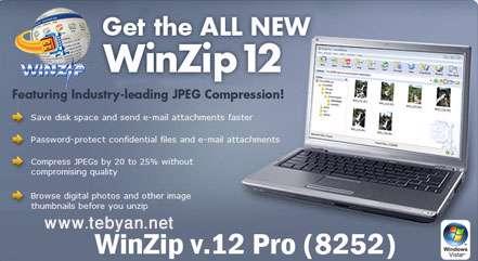 WinZip v.12.0 Pro Build 8252