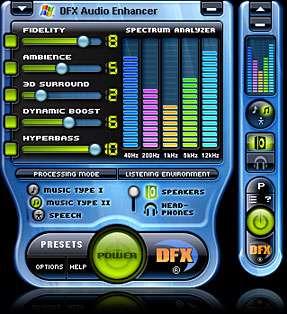 DFX for media player
