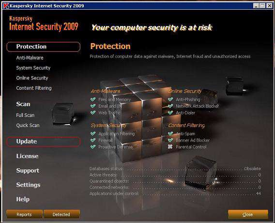 Kaspersky Internet Security 2009 SKIN