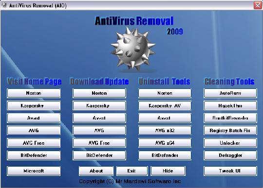 AntiVirus Removal 2009