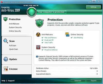 به روز رسانیKaspersky Internet Security 2010 ( فروردین ماه 1389)
