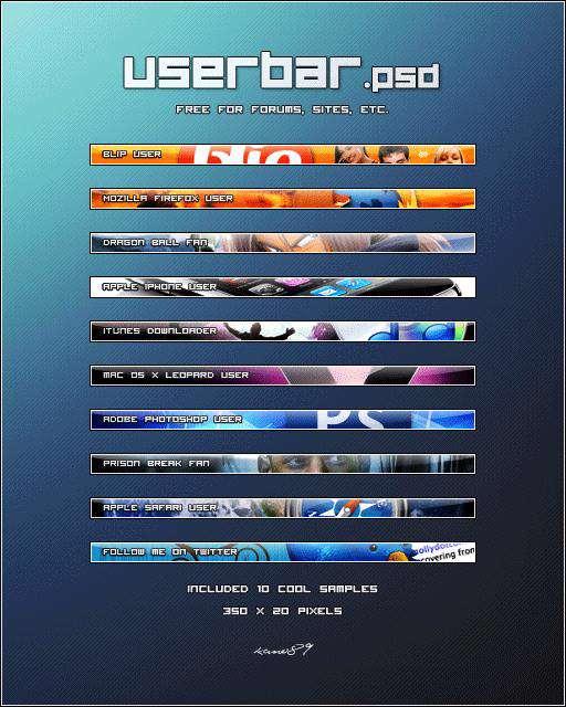 Userbar PSD