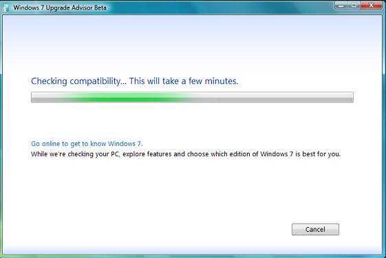 Windows7 Upgrade Advisor