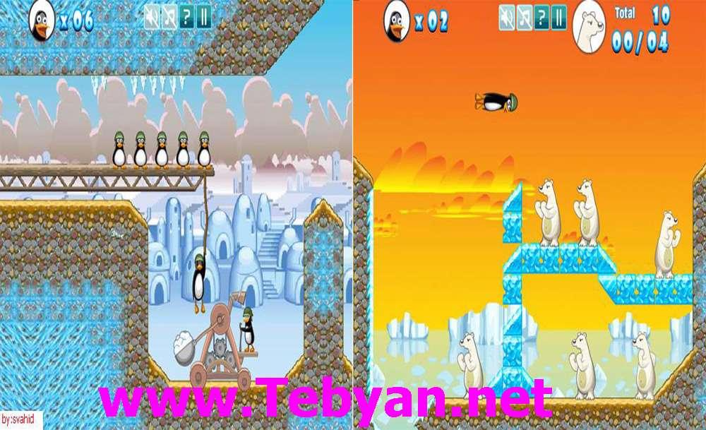 بازی Crazy Penguin Catapult