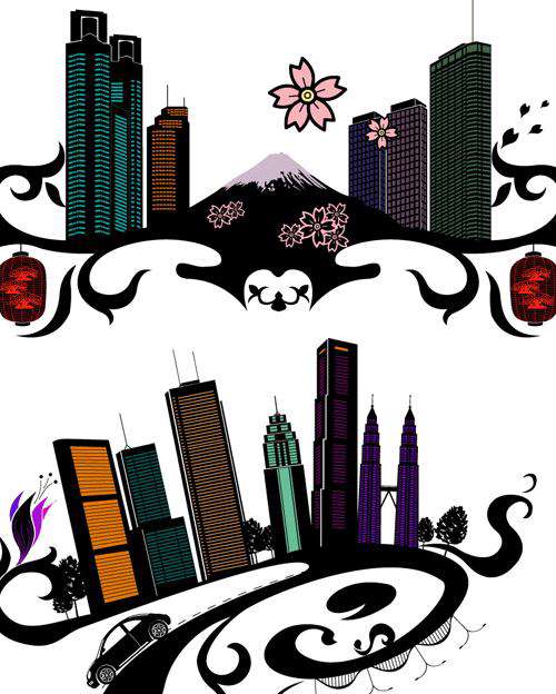City Flower Vector