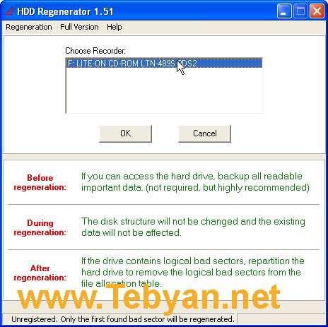 Portable HDD Regenerator 1.61