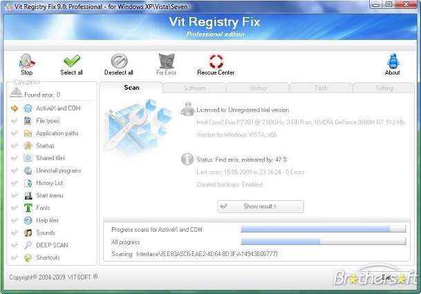 Vit Registry Fix Professional portable