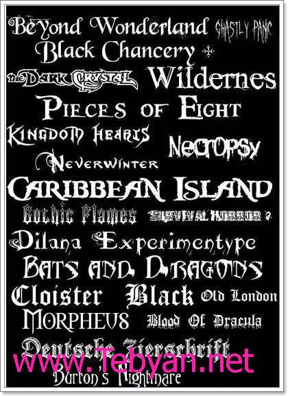 Black - Gothic- Doom- Metal Fonts
