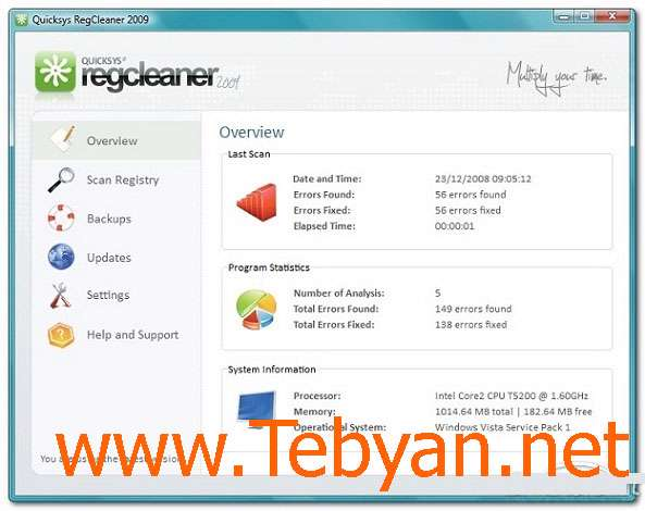 Quicksys RegCleaner 2.1.0.209