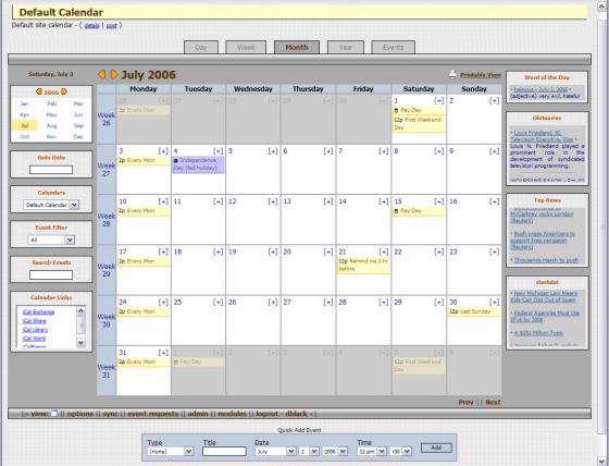 Base Calendar 1.3 Portable