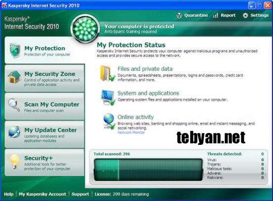 به روز رسانیKaspersky Internet Security 2010 ( اردیبهشت ماه 1389)