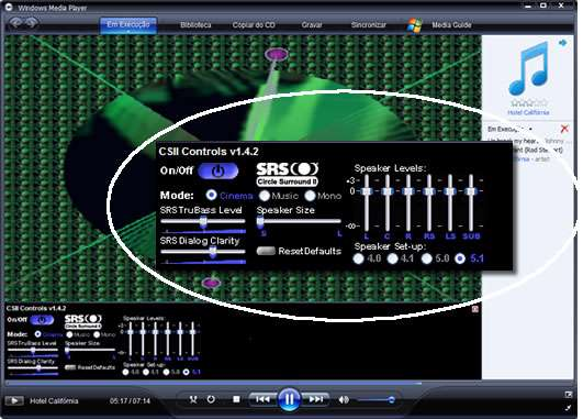 Windows Media Player Dolby Surround II Plugin