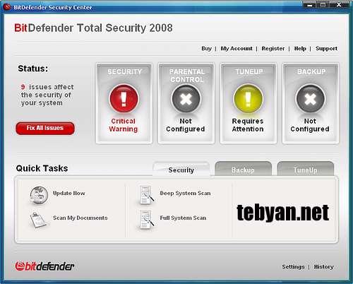 به روز رسانی Bitdefender Total Security 2010 (اردیبهشت ماه 1389)