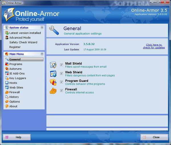 Online Armor Personal Firewall  v4.0.0.15