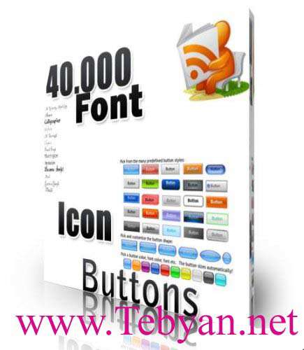 40.000 Collections Font Icon Buttons