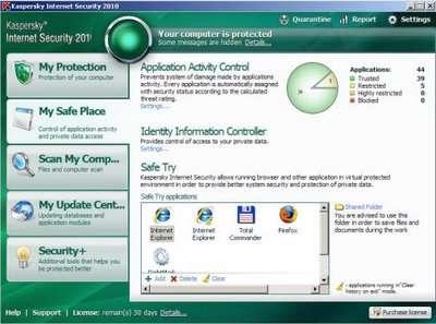 به روز رسانیKaspersky Internet Security 2011 ( فروردین ماه 1390)